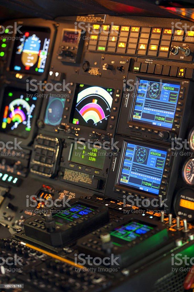 Modern Cockpit stock photo