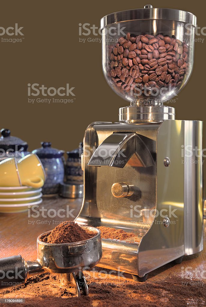 modern coffee grinder royalty-free stock photo