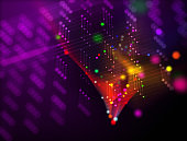 Modern colorful abstract network background