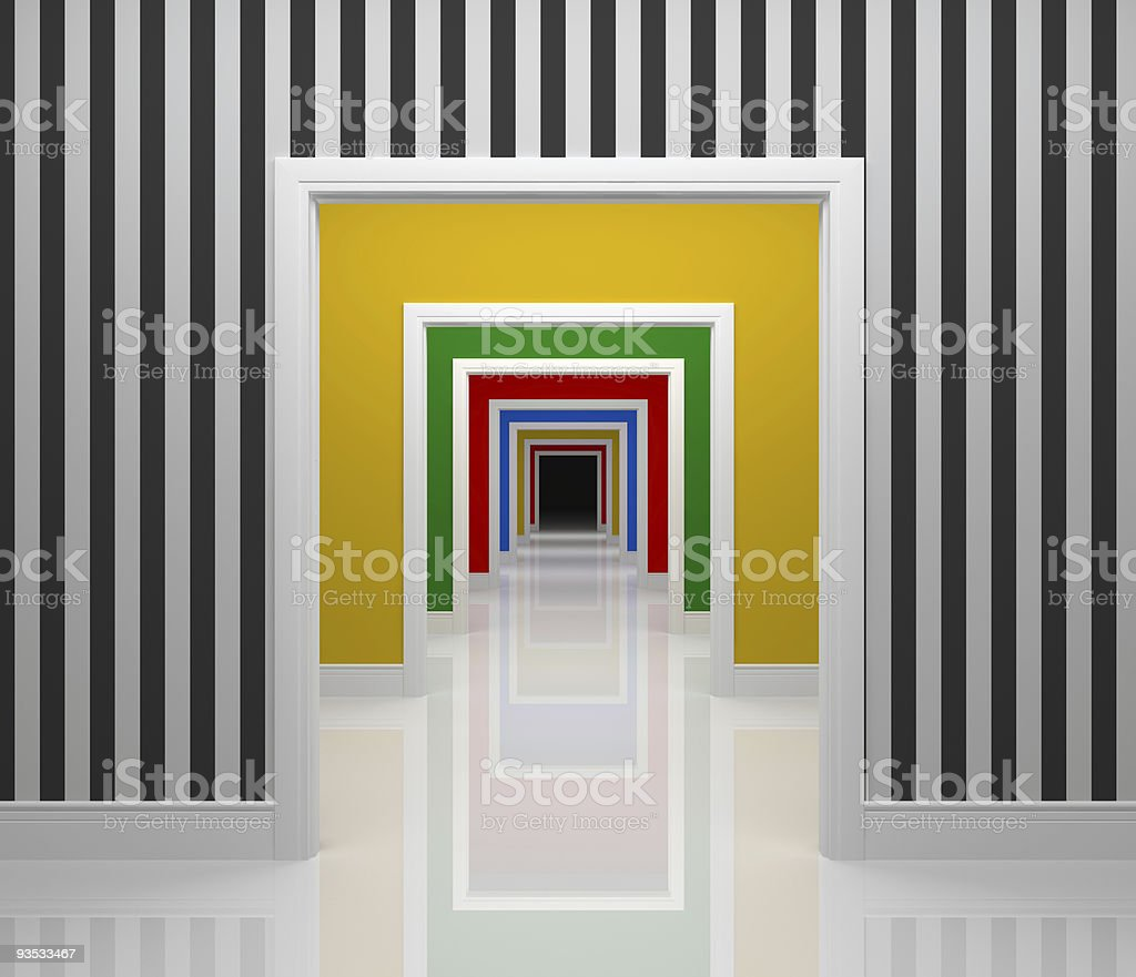 Modern colorful hall royalty-free stock vector art
