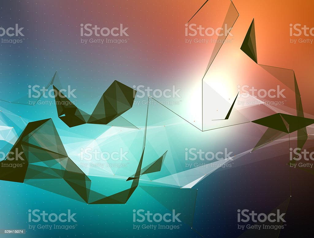 Modern colourful abstract network background stock photo