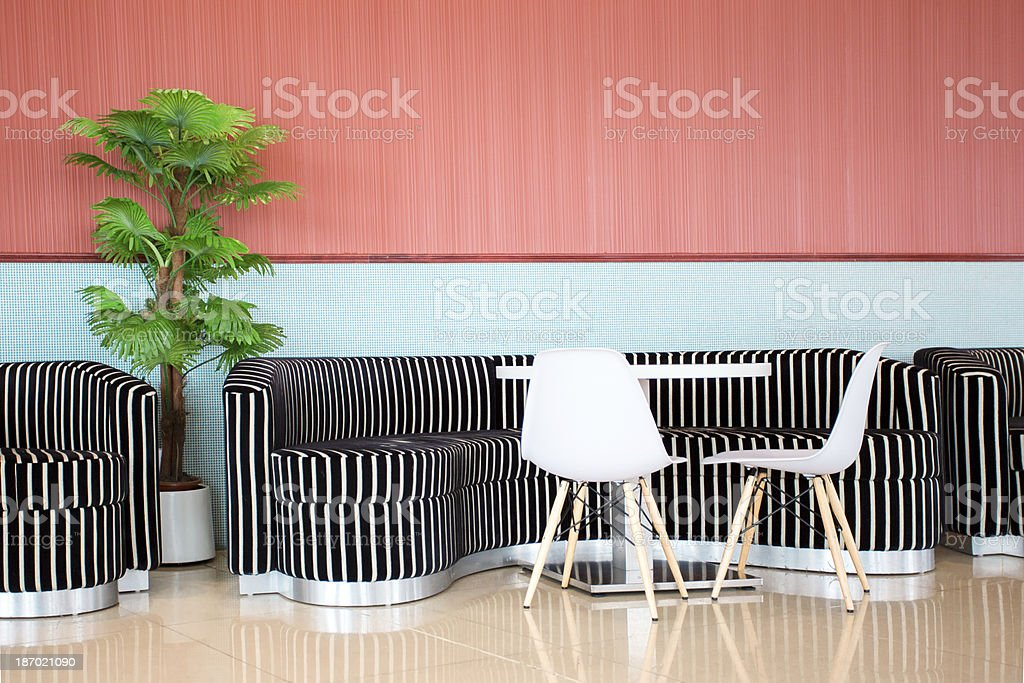 Modern Colourful Cafe stock photo