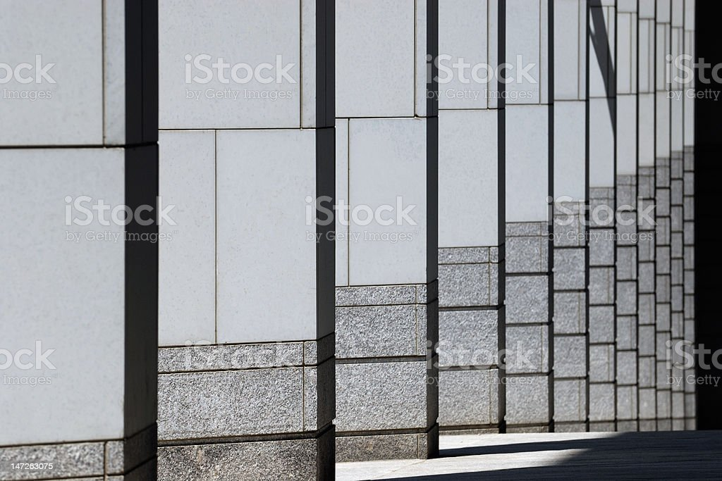 Modern Column Pattern of Courthouse Building royalty-free stock photo