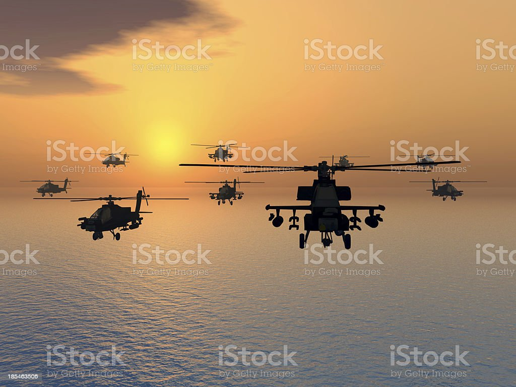 Modern Combat Helicopters stock photo