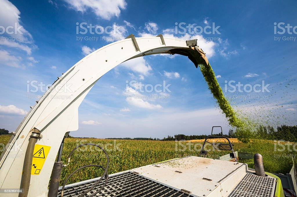 Modern combine harvester stock photo