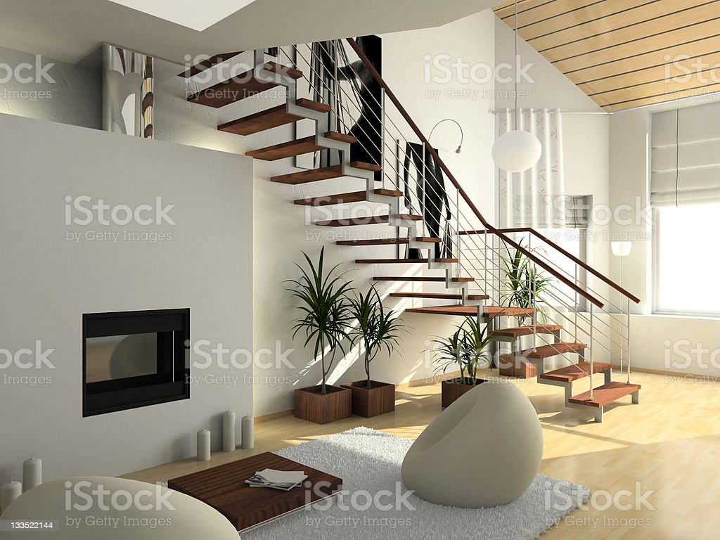 modern comfortable interior stock photo