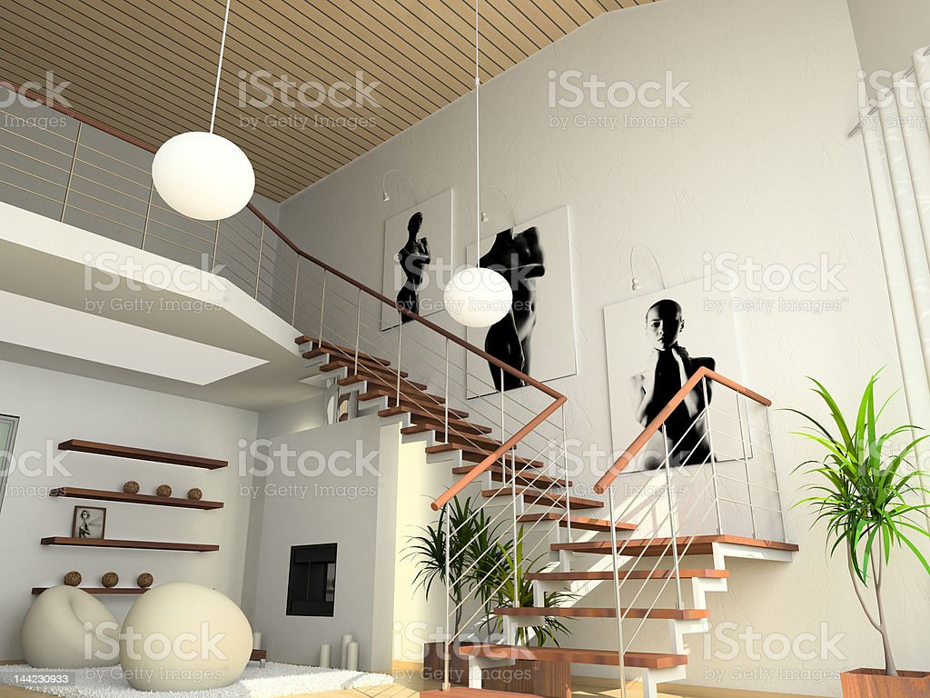 modern comfortable interior royalty-free stock photo