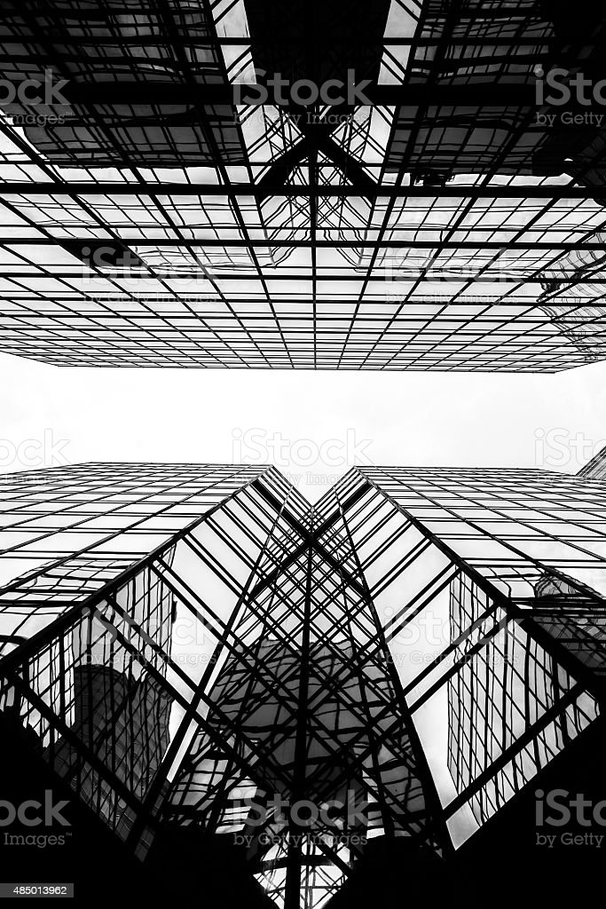 Modern commercial architectures B&W stock photo