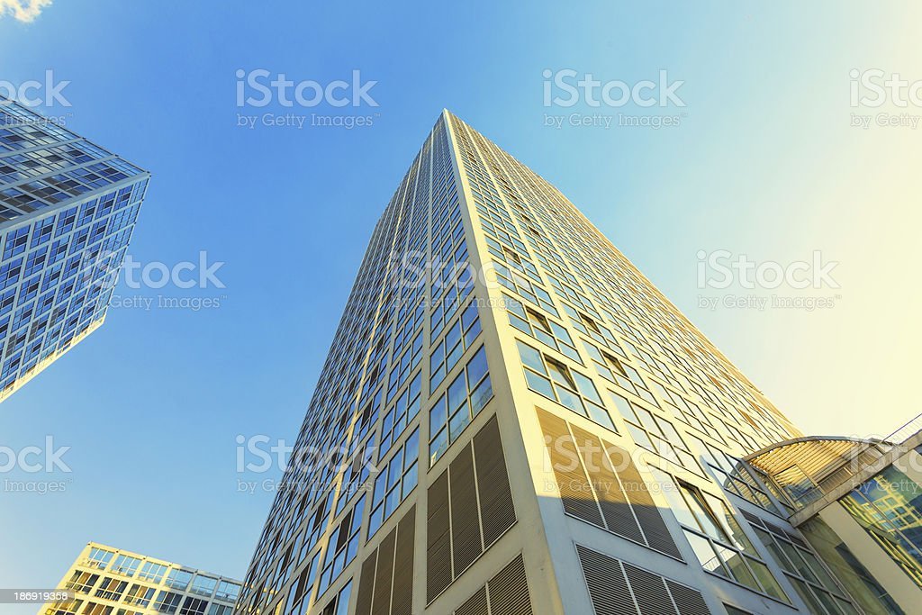 Modern commercial buildings royalty-free stock photo