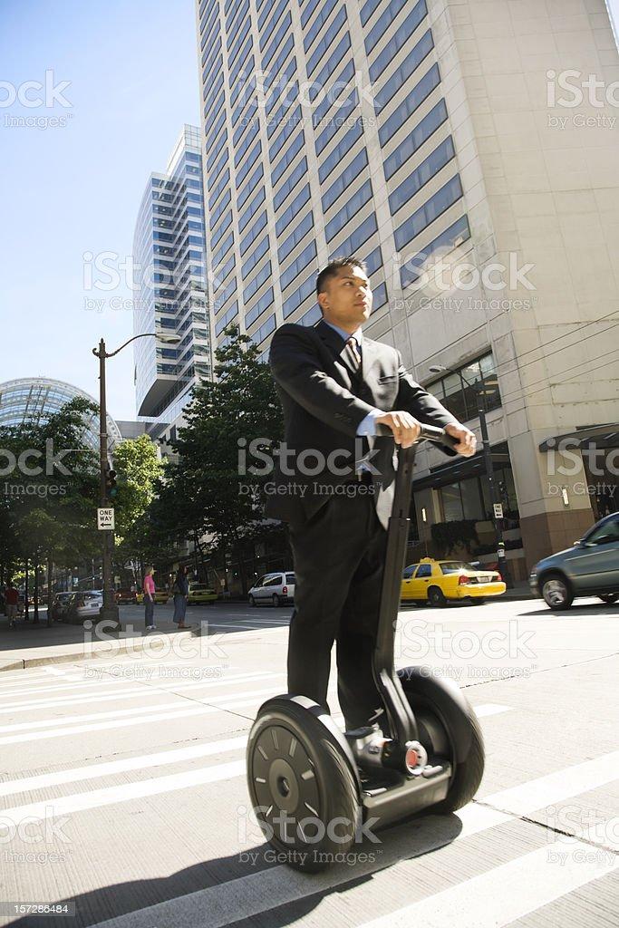 Modern Commuter stock photo