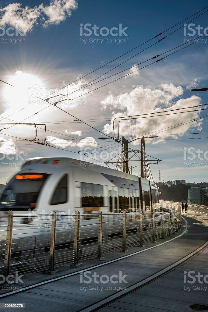 Modern Commuter Rail stock photo
