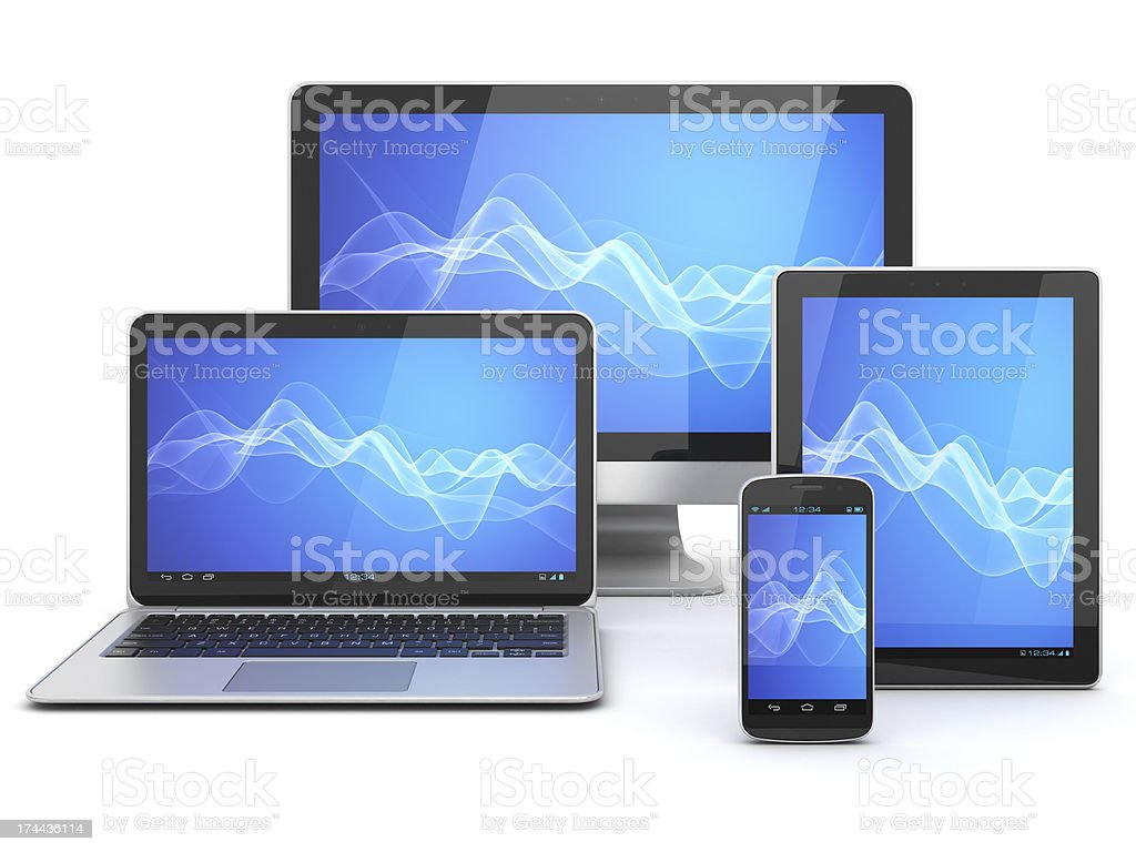 Modern computer devices royalty-free stock photo