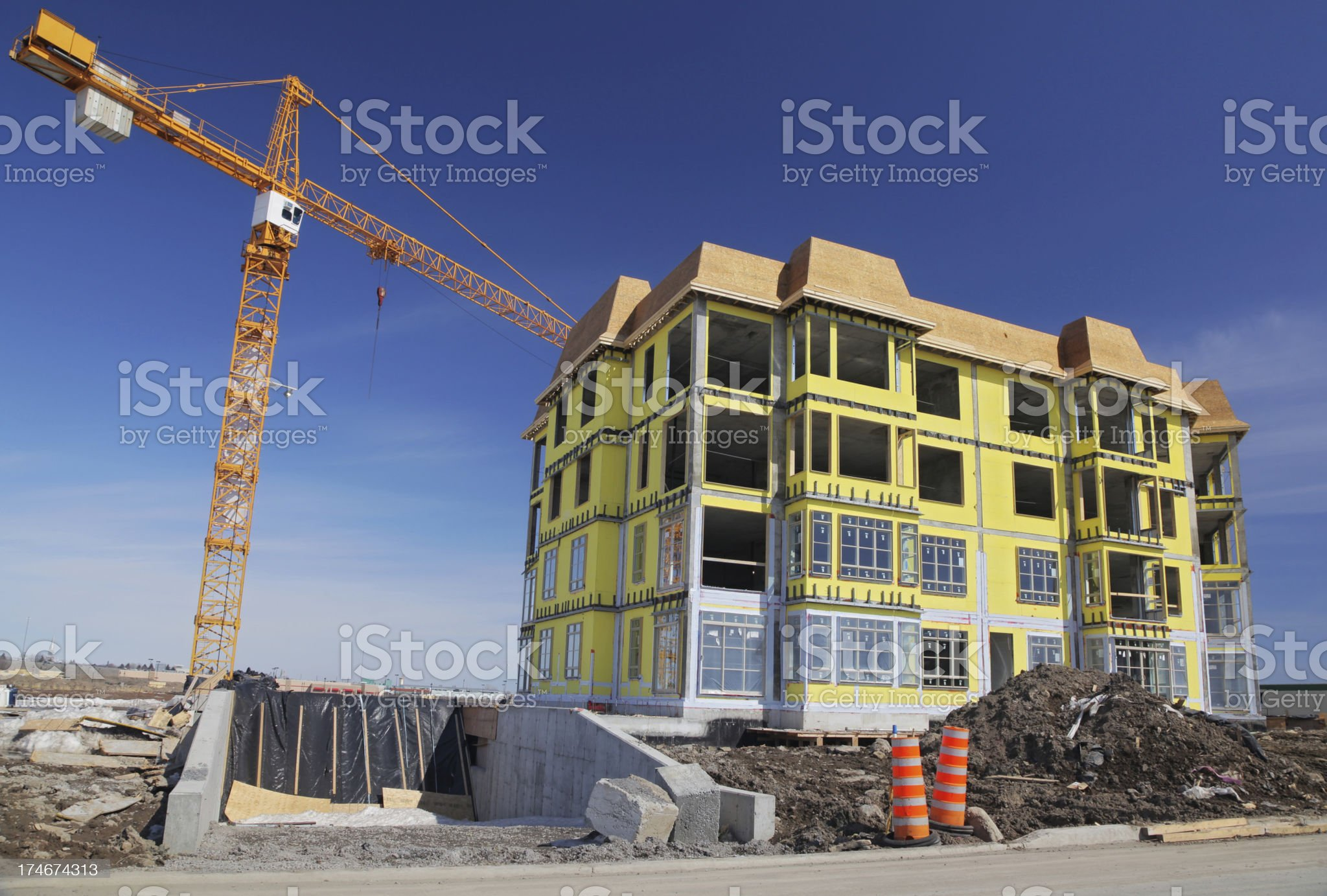 Modern Condo Building in Construction royalty-free stock photo