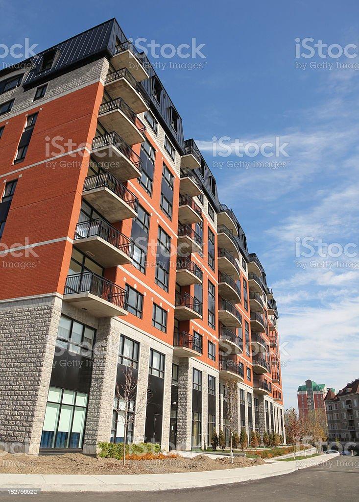 Modern Condominium Building Exterior stock photo