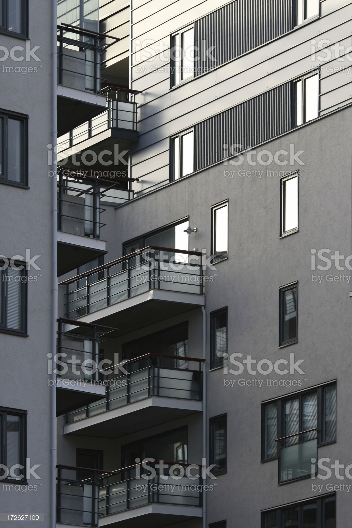 Modern condominium in Norway royalty-free stock photo