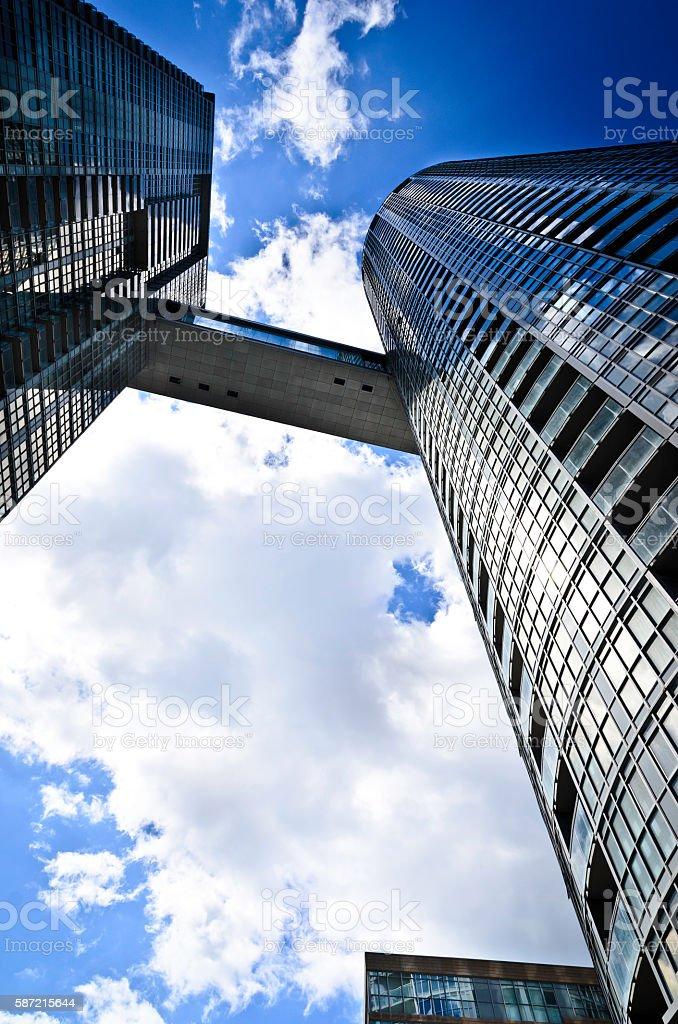 Modern condominium towers looking up royalty-free stock photo