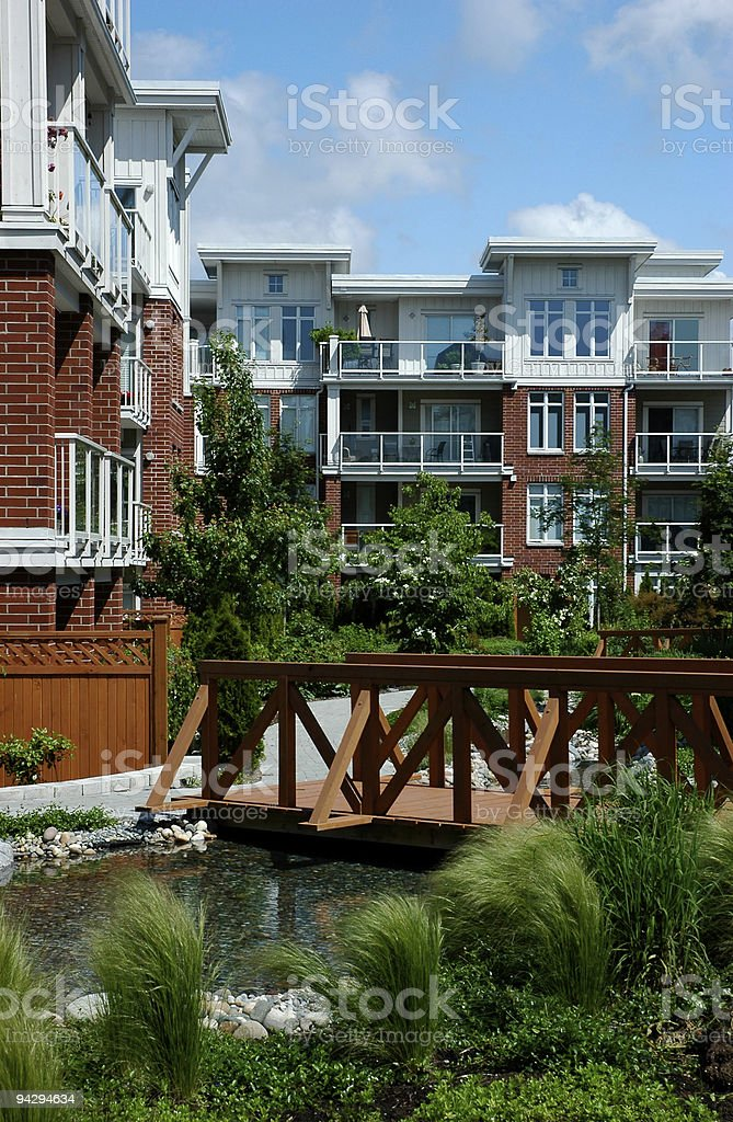 Modern condominiums stock photo