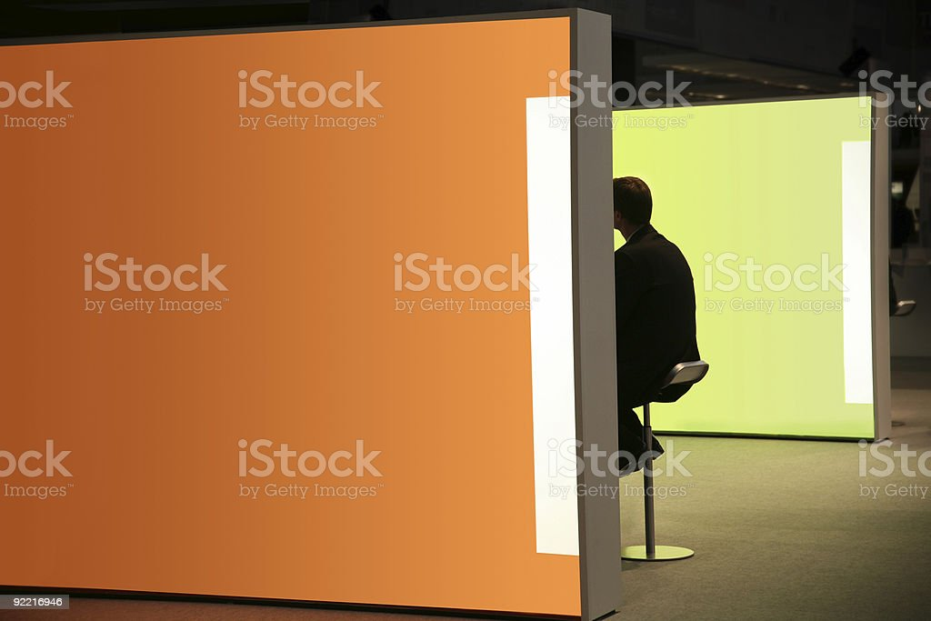 modern conference booth stock photo