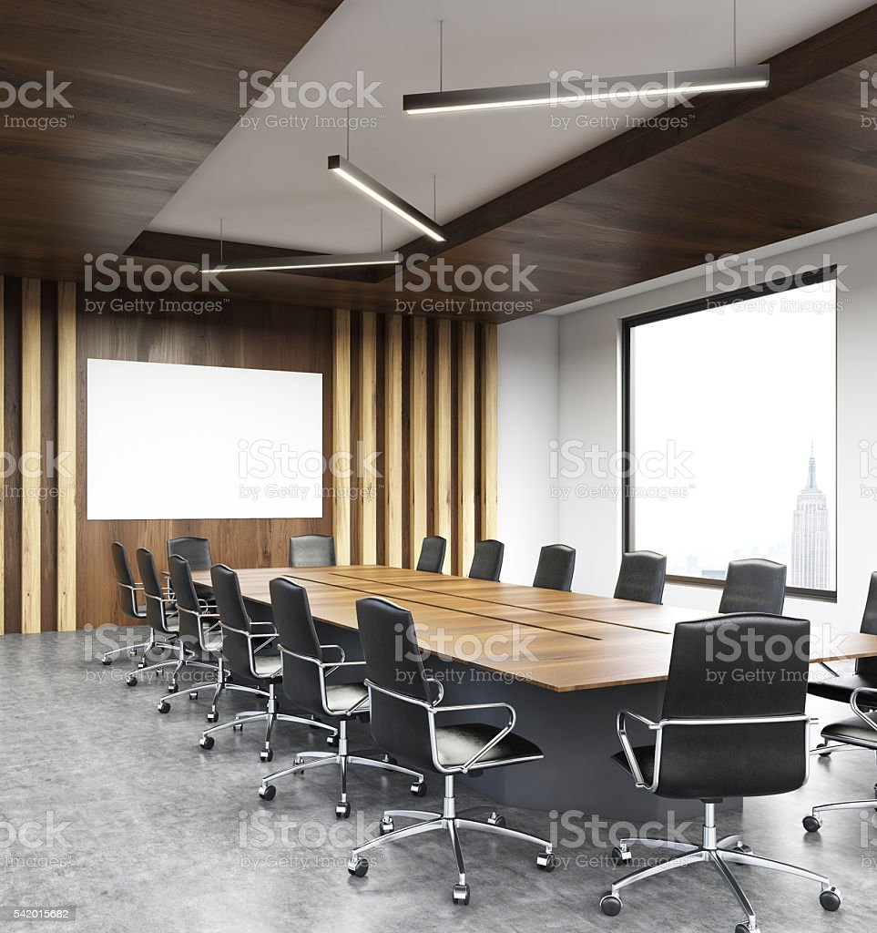 Modern conference room sideview stock photo