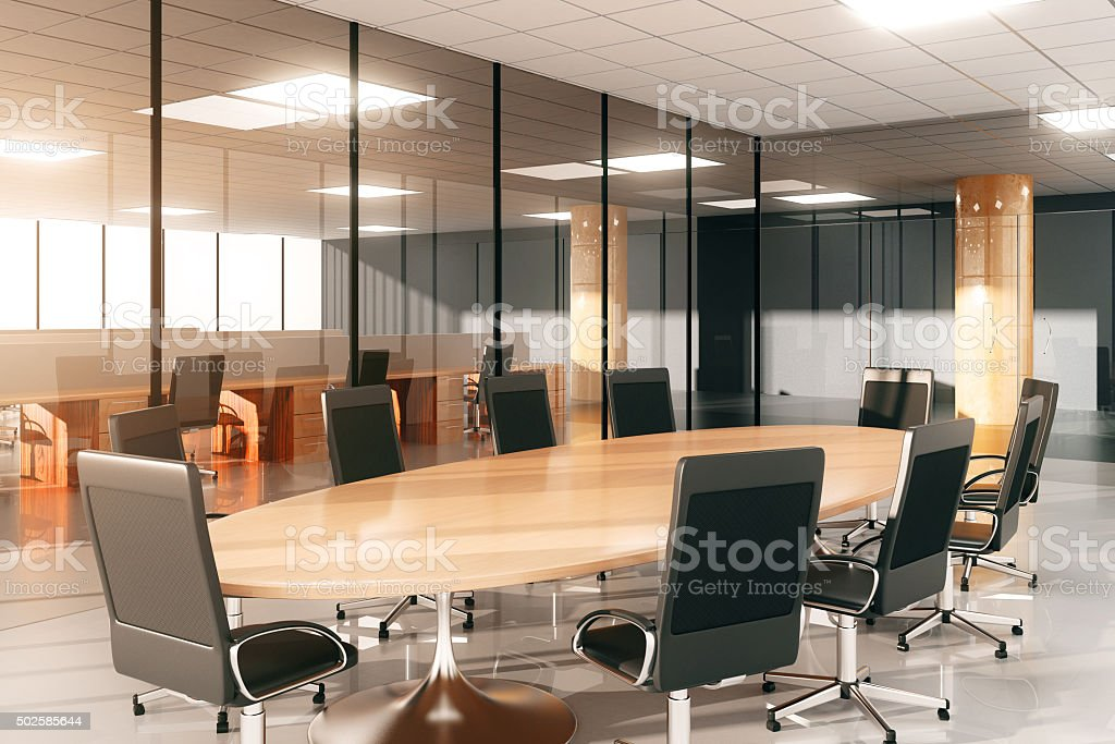 Modern conference room with furniture stock photo