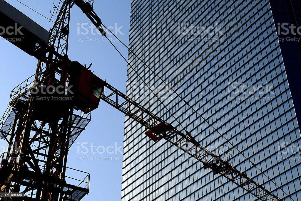 Modern Construction royalty-free stock photo