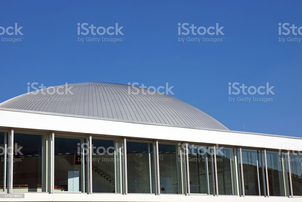 Modern construction with a cupola stock photo