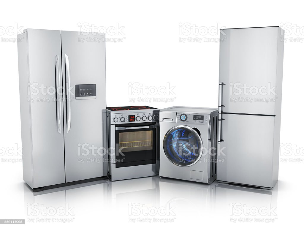Modern consumer electronics stock photo