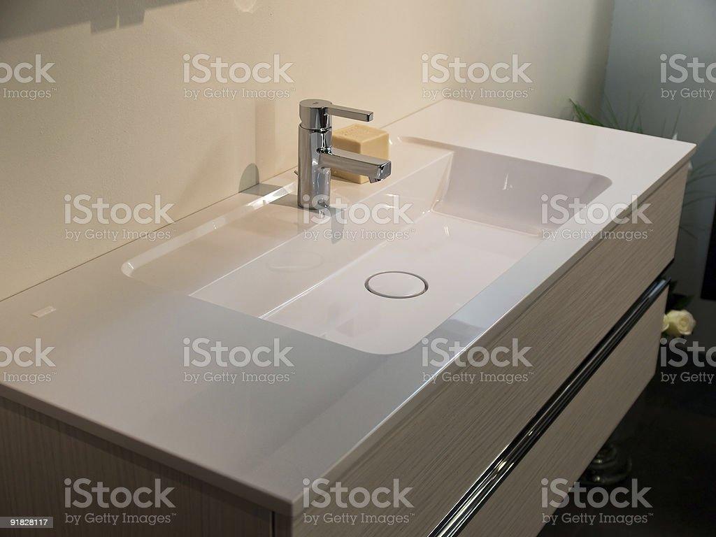 Modern contemporary designer bathroom stock photo