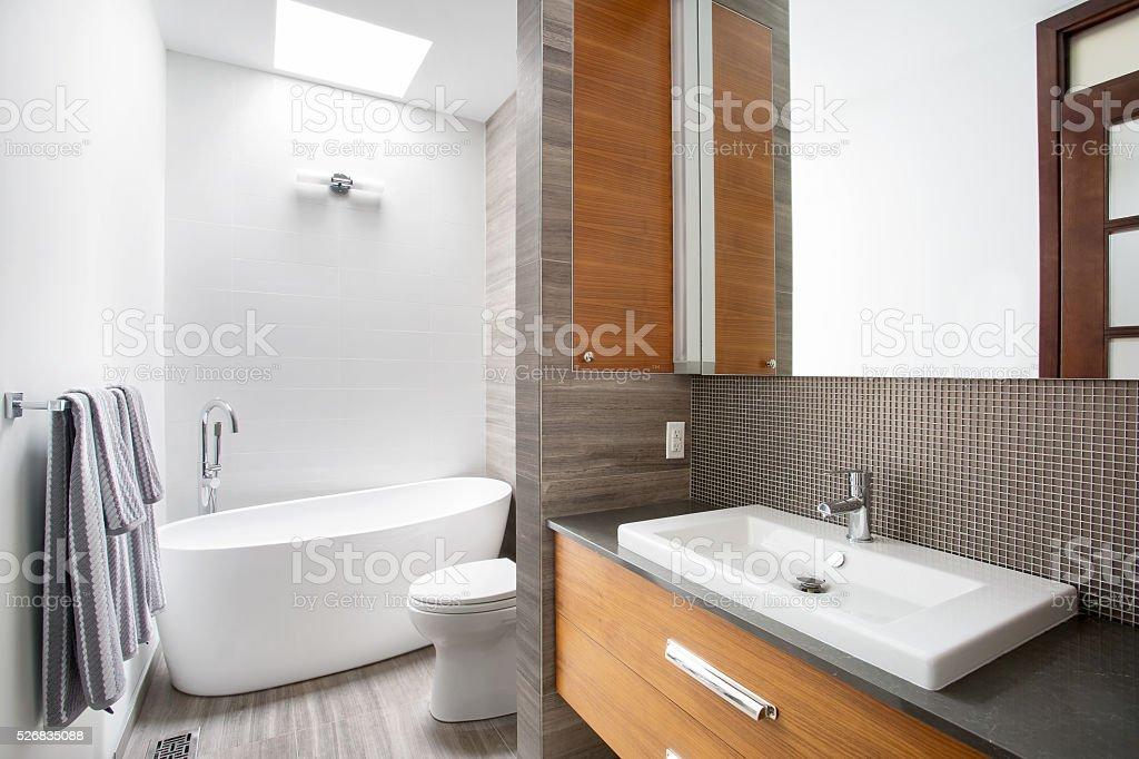 Modern Contemporary style bathroom stock photo