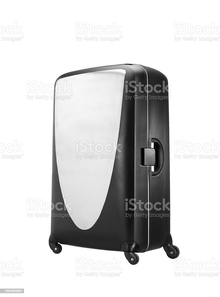 Modern convenient suitcase on castors royalty-free stock photo