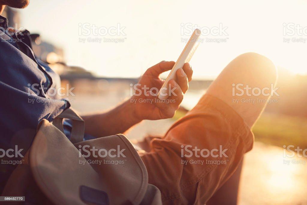 Modern Conversation stock photo