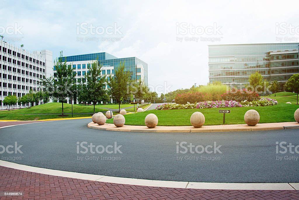 Modern Corporate Building or Hospital stock photo