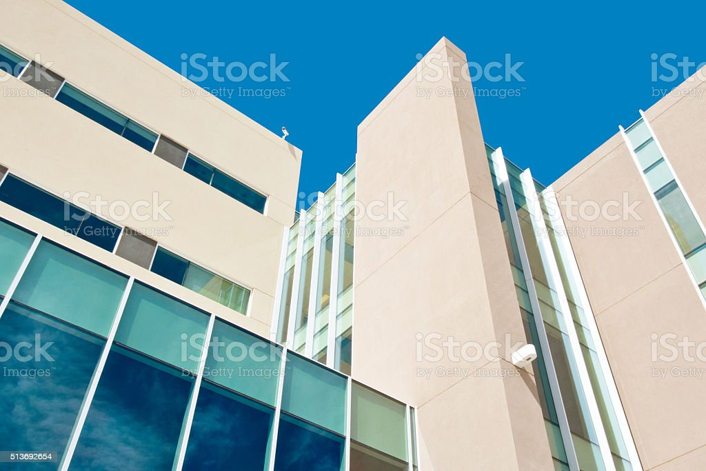 Modern Corporate Building, School, Clinic, Apartments or Hospital stock photo