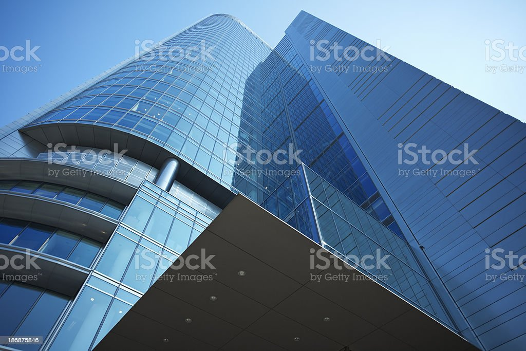 Modern Corporate Building, Warsaw, Poland stock photo