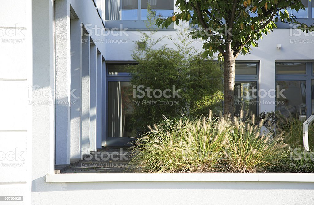 Modern Corporate Building with Atrium royalty-free stock photo