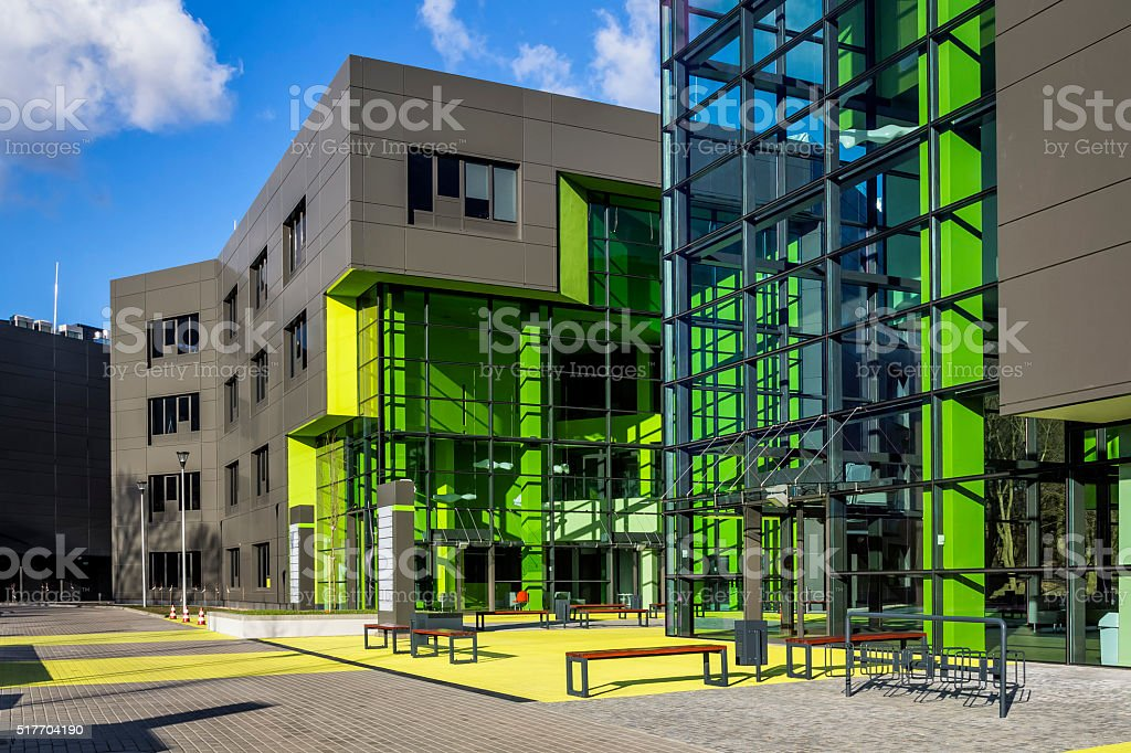 Modern corporate business buildings stock photo
