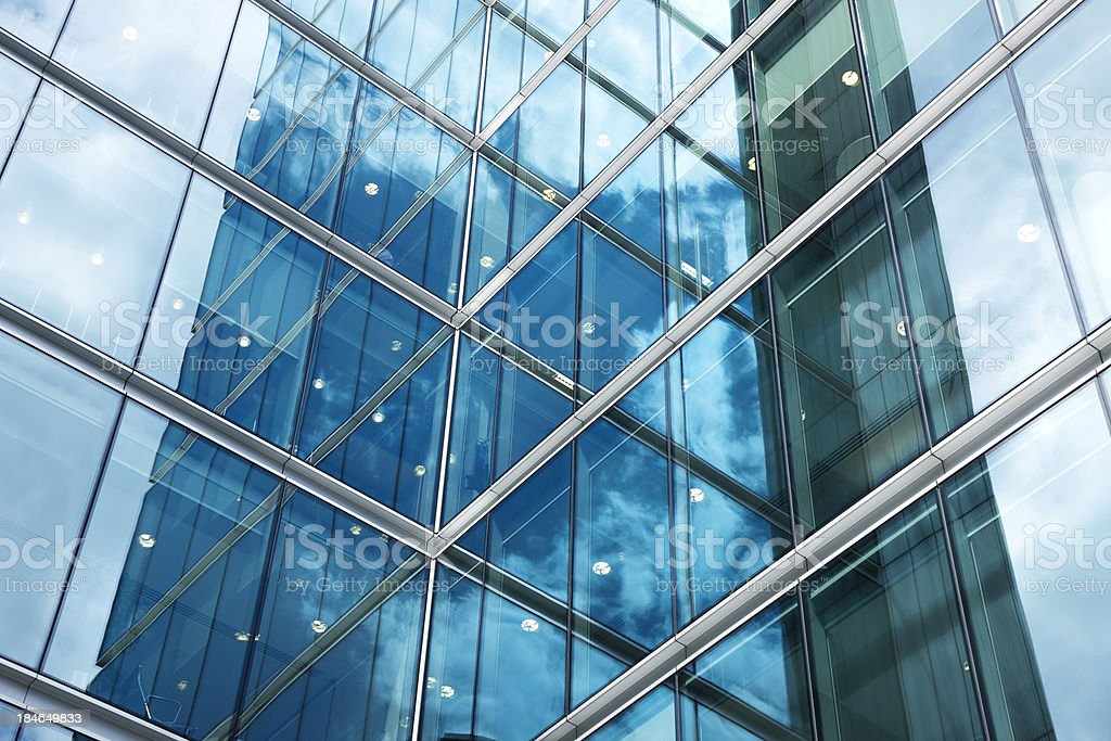 Modern Corporate Glass Building stock photo