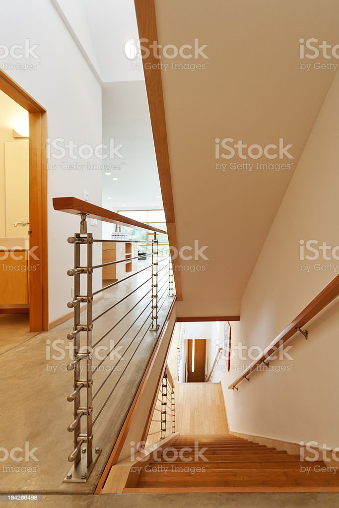 Modern Corridor and Stairway Architectural Abstract royalty-free stock photo