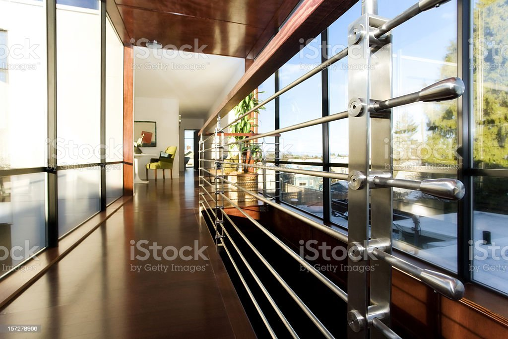 Modern Corridor Architectural Abstract royalty-free stock photo
