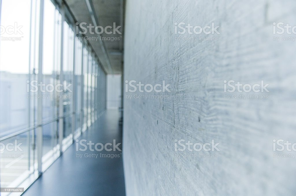 Modern corridor royalty-free stock photo