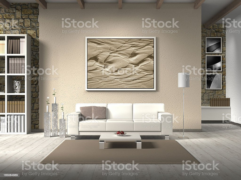 modern country style interior stock photo