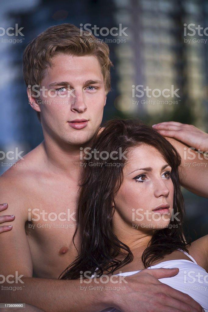Modern couple stock photo