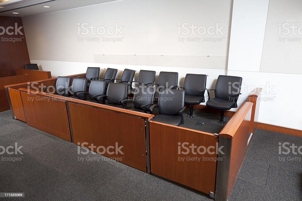 Modern Courtroom Jury Box stock photo