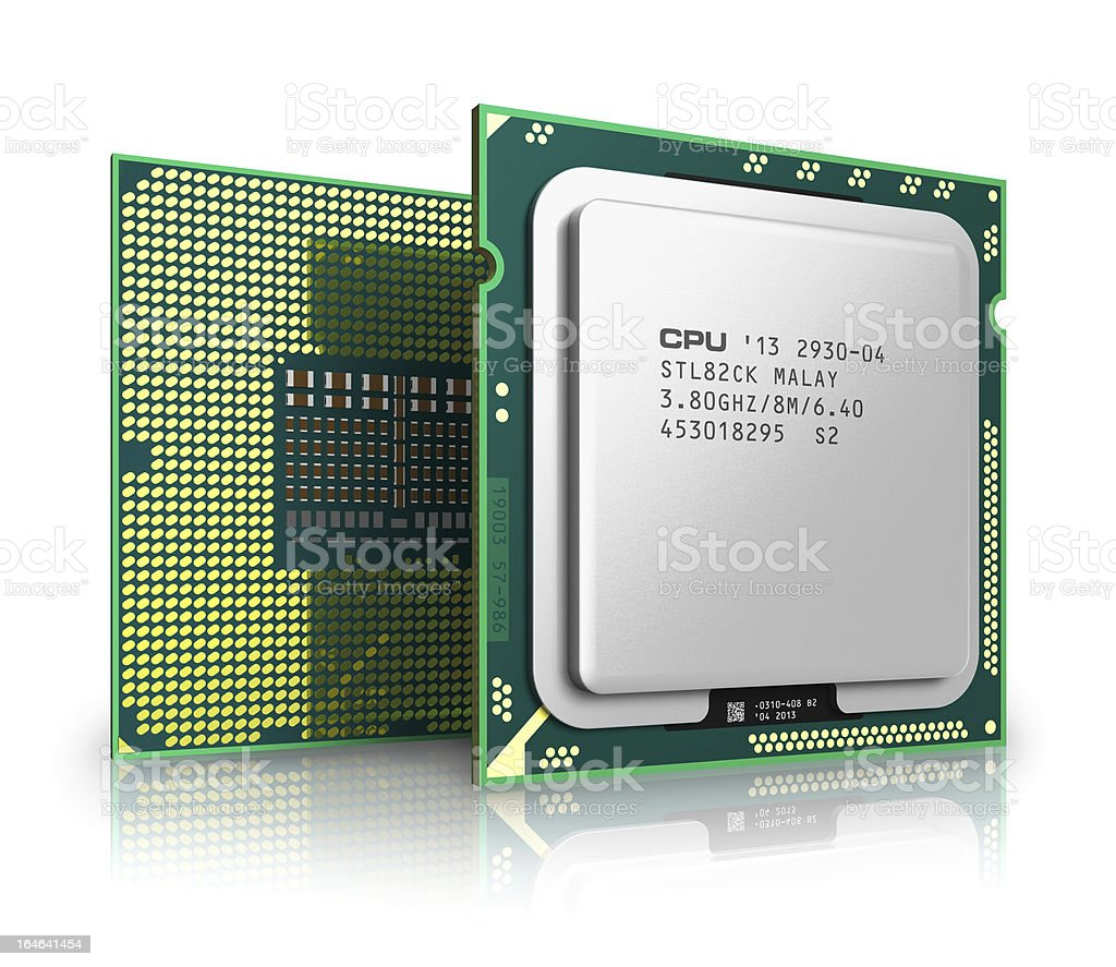 Modern CPU stock photo
