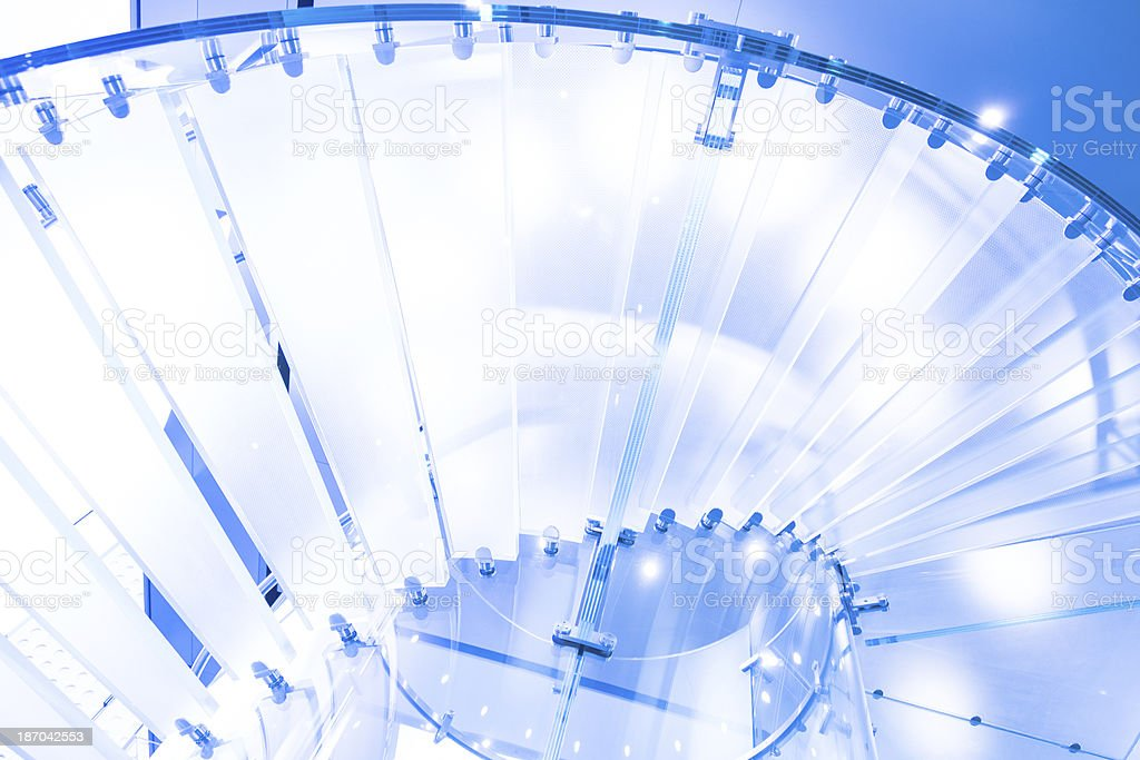 Modern Crystal Staircase royalty-free stock photo