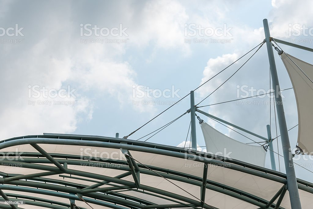 Modern curve canopy stock photo