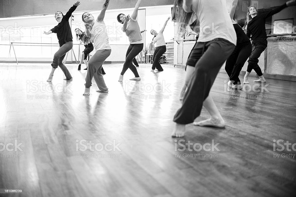Modern dance classroom stock photo