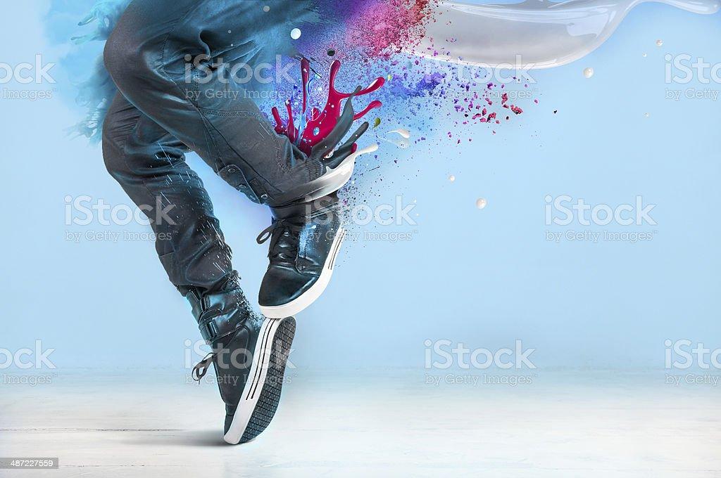 Modern dance pose stock photo
