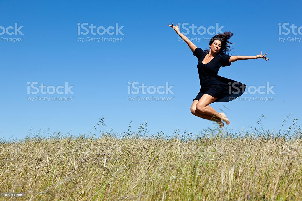 modern dancer jumping in the air royalty-free stock photo