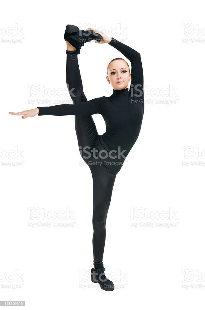 Modern dancer with great stretching royalty-free stock photo